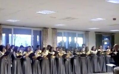 Actuación del Coro universitario
